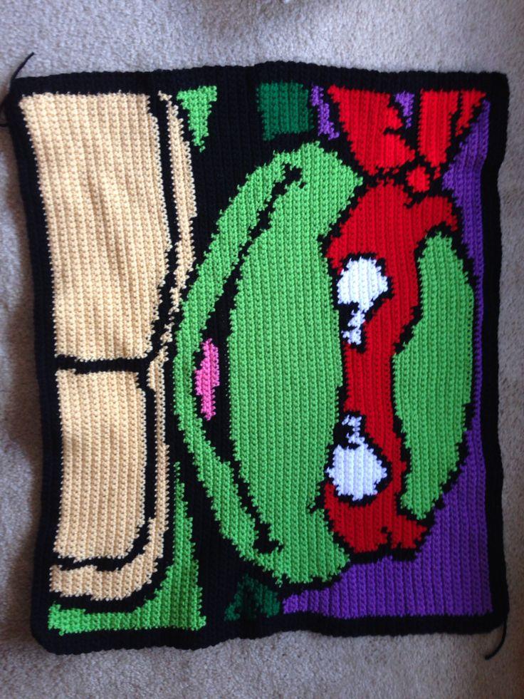 Free Crochet Ninja Turtle Blanket Pattern