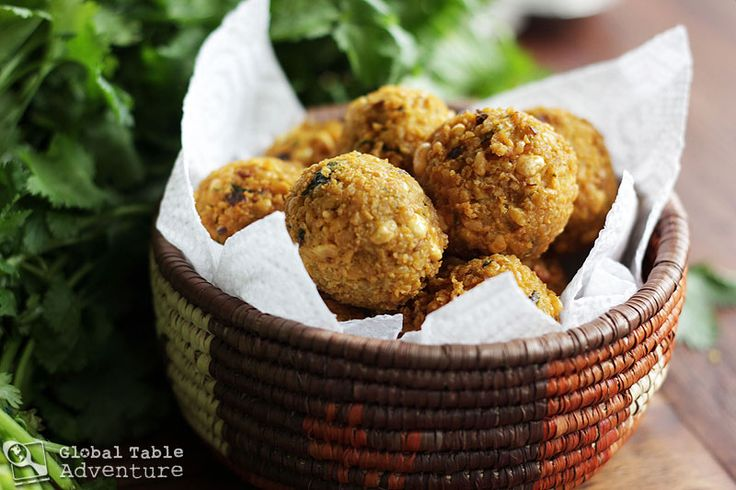 Gateaux Piments (Crushed split peas with lots of chilli and corriander, rolled into balls and deep fried)- a classic Mauritian snack.