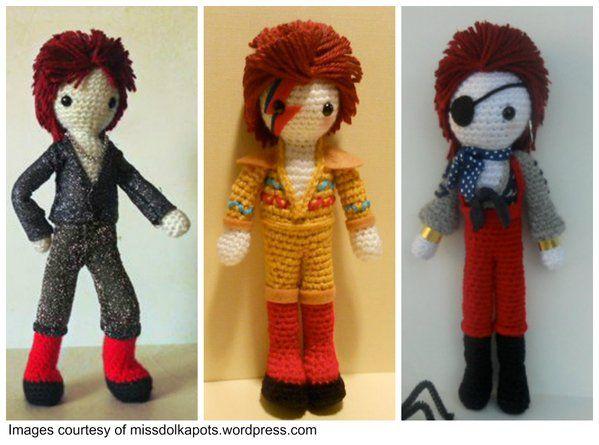 David Bowie  amigurumi http://www.topcrochetpatterns.com/blog/a-tribute-to-david-bowie