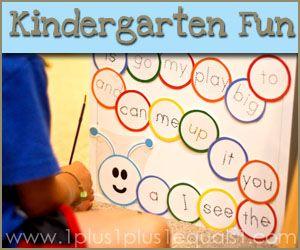 Kindergarten Printables: Kindergarten Printable, Kindergarten Prek, Kindergarten Fun, Kindergarten Homeschool Ideas, Kindergarten Teachers, Sight Words Games, Homeschool Kindergarten, Homeschool Fun, Sight Word Games