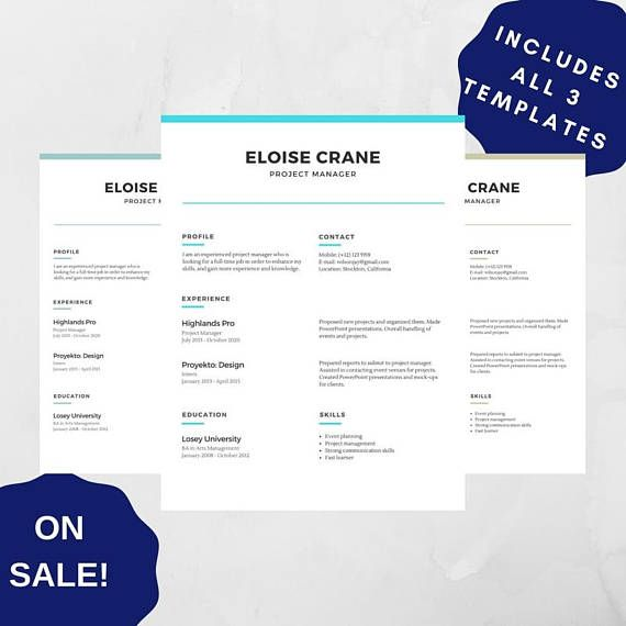 professional resume template 05 cv template pdf for adobe creative resume modern resume design resume instant - Professional Resume Template Pdf