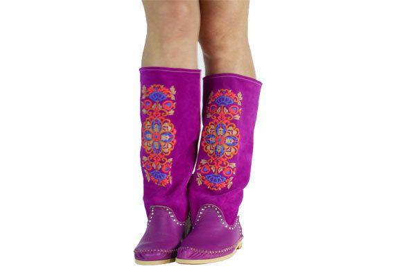 Mocasines de mujer mocasín botas fucsia rosa deseo BOTS