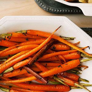 Cinnamon Carrots with Maple Thyme Butter-One of our Holiday Favorites!