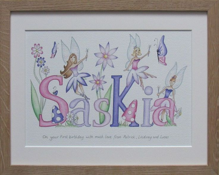 Saskia fairy name painting