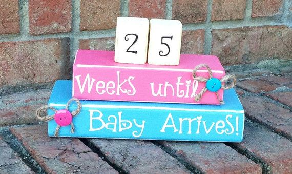 Countdown. Pregnancy Countdown. Aqua and Pink.baby. Countdown Blocks. Weeks Unti We're Due. Maternity Blocks.
