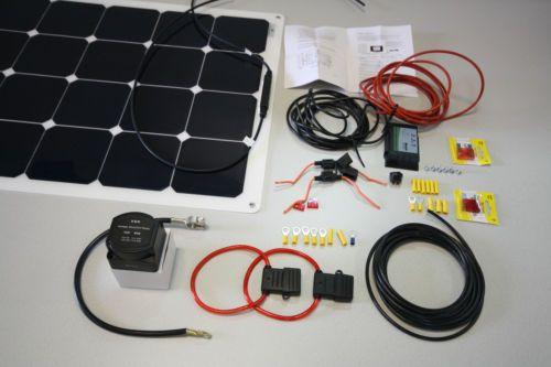 100-WATT-12V-SOLAR-PANEL-KIT-amp-60-AMP-SPLIT-CHARGING-KIT-CAMPERVAN-MOTORHOME