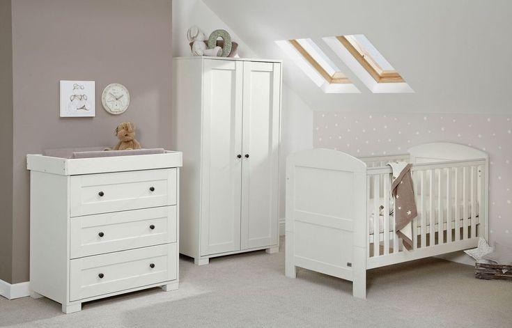 Mamas & Papas Harrow 3 Piece Nursery Furniture Set - White.