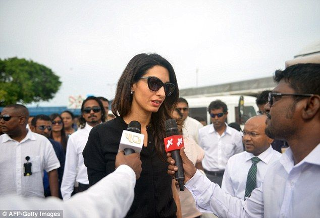 Strong words: Amal has called the case and trial against the former president 'a mockery o...