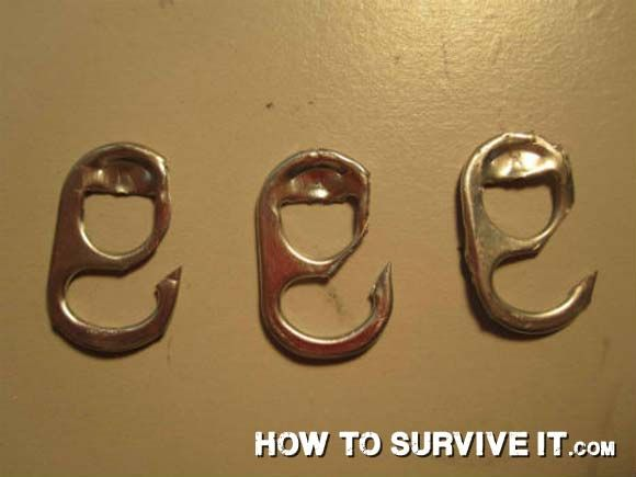 37 awesome survival/prepping hacks...like a Soda Tab Fish Hook