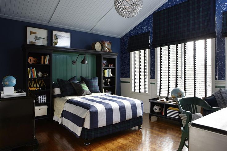 Sophisticated teen boy's bedroom... This is very much like my Gabe! Great decor, easy to achieve ;)