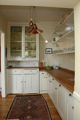 1900 Kitchen | We painted the original built-in dresser and built the kitchen ...