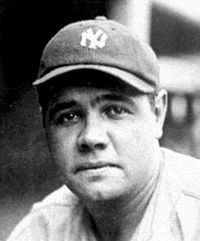 """George Herman """"Babe"""" Ruth was an American professional baseball player whose career in Major League Baseball spanned 22seasons, from 1914 through 1935. Nicknamed The Bambino and The Sultan of Swat, he began his MLB career as a stellar left-handed pitcher for the Boston Red Sox, but achieved his greatest fame as a slugging outfielder for the New York Yankees. Ruth established many MLB batting records, including career home runs , runs batted in  , bases on balls , slugging percentag..."""