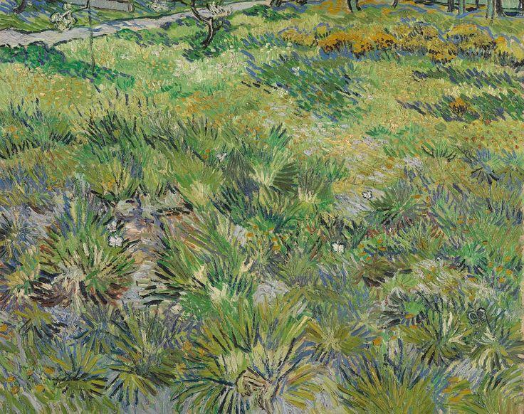 Винсент ван Гог - Высокая трава с бабочками.