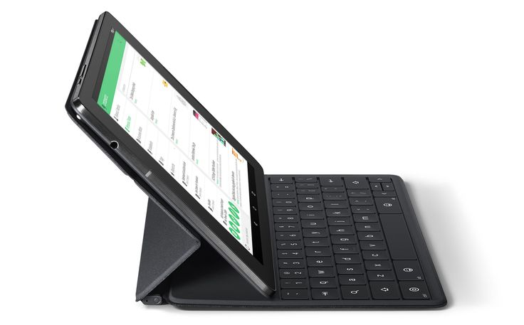 Google Nexus 9 tablet with keyboard accessory
