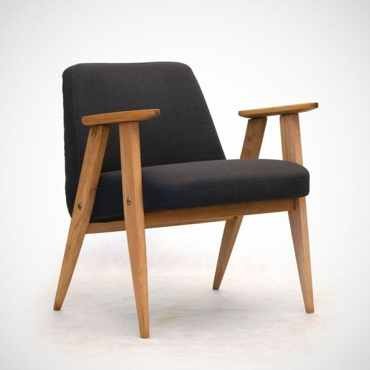 Fotel 366, Józef Chierowski Fotel pierwotnie produkowano w Dolnośląskiej Fabryce Mebli w Świebodzicach w latach 60-tych. Mebel wytwarzano przez ponad 20 lat. Prosta konstrukcja – wpisująca się w panujące wówczas trendy – ułatwiała produkcję i wzbudzała ogromne zainteresowanie nabywców. Mebel składał się z tapicerowanego siedzenia zespolonego z oparciem, połączonego z częścią nośną, wykonaną z drewna bukowego, malowanego bezbarwnym lub czarnym lakierem.