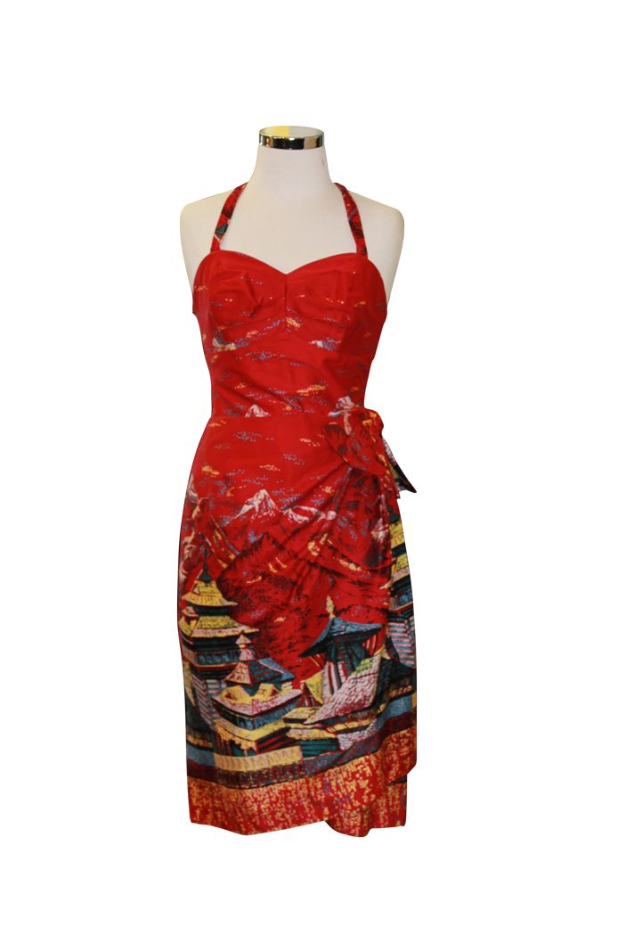 Sarong Oriental Tea House Red
