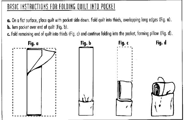 How to fold a quillow                                                                                                                                                                                 More
