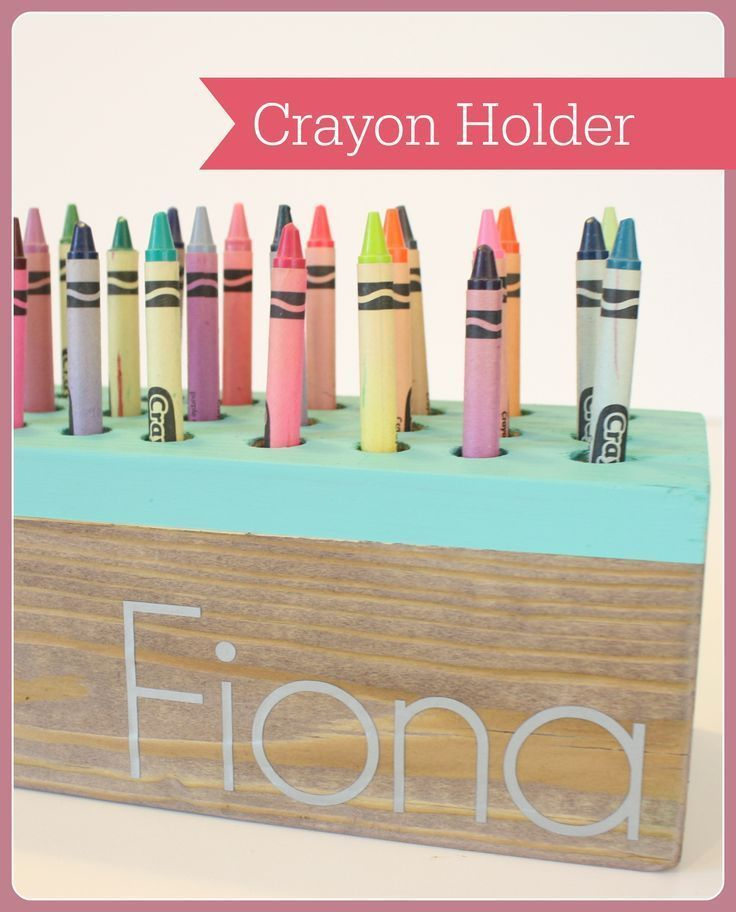 Diy crayon holder tutorial-great gift for a kid!