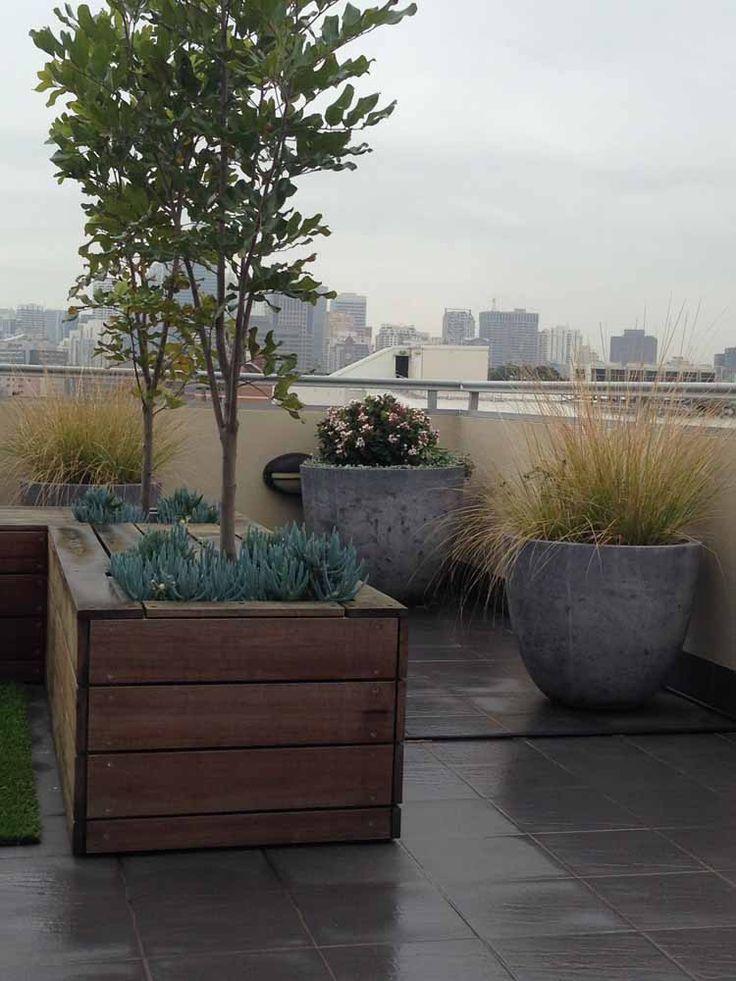 Inner City Roof Top Garden Design - Sydney
