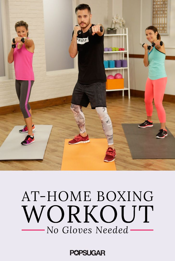 Punch it out with this guided 15 minute boxing routine! Torch calories and tone key muscle groups all in one workout.