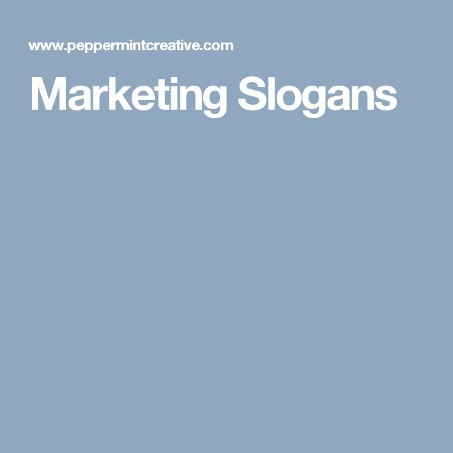 Marketing Slogans