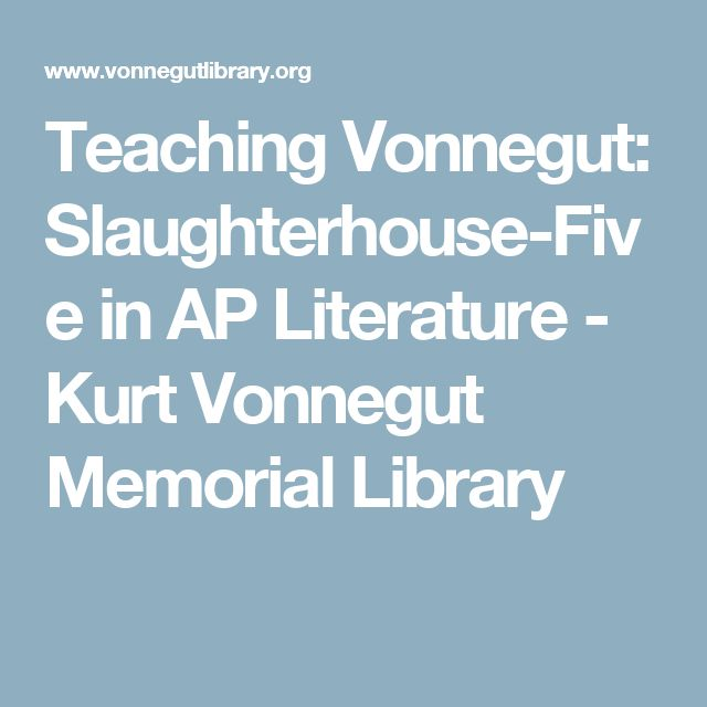 essay questions about slaughterhouse five This question counts as one-third of the total essay section slaughterhouse-five song of ap english literature and composition free-response questions form.