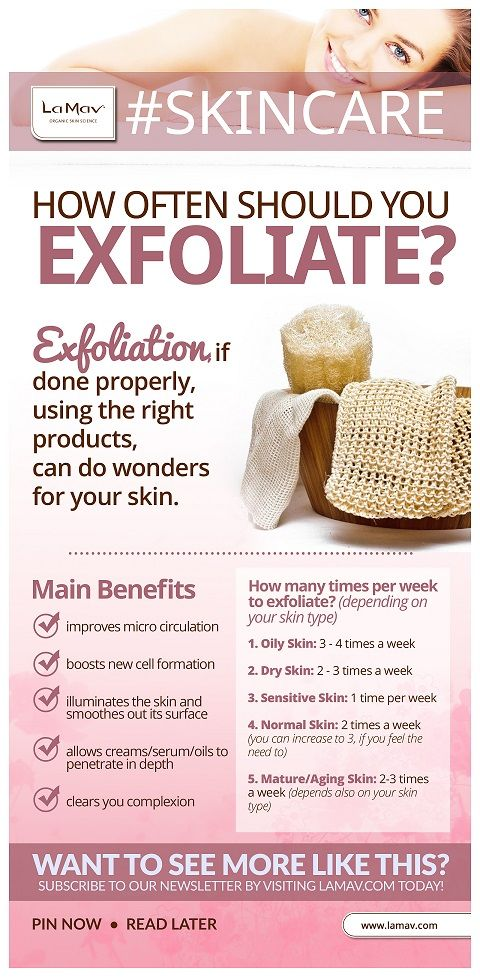 Best 25 exfoliate skin ideas on pinterest beauty diy how often should u exfoliate your skin infographic ccuart Choice Image