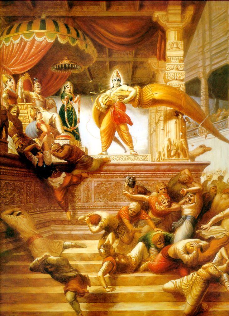 Lord Rama breaking Shiva's bow