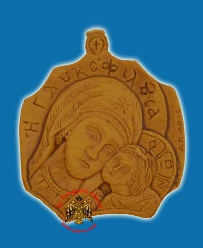 Icon from BeeWax Panagia Glikofiloussa