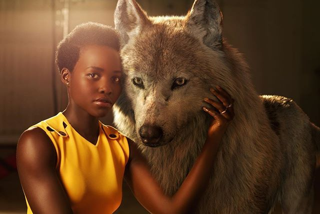 """Lupita Nyong'o voices Raksha, a mother wolf who cares deeply for all of her pups–including man-cub Mowgli, whom she adopts as one of her own when he's abandoned in the jungle as an infant. """"She is the protector, the eternal mother,"""" says Nyong'o. """"The word Raksha actually means protection in Hindi. I felt really connected to that, wanting to protect a son that isn't originally hers but one she's taken for her own.""""  #JungleBook"""