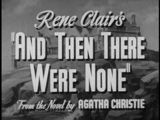 and then there were none | And Then There Were None - O vingador invisível - René Clair ...