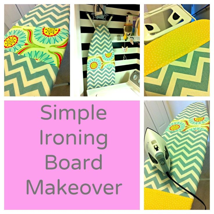 Add some charm to your sewing room by creating a simple DIY ironing board cover. Perfect use for your leftover fabric scraps. Love looking at this cover in my sewing room.