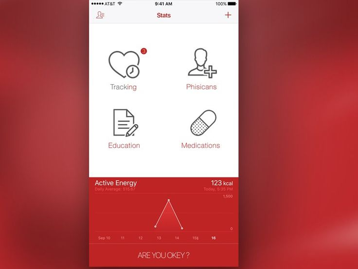 Medical stats app UI design