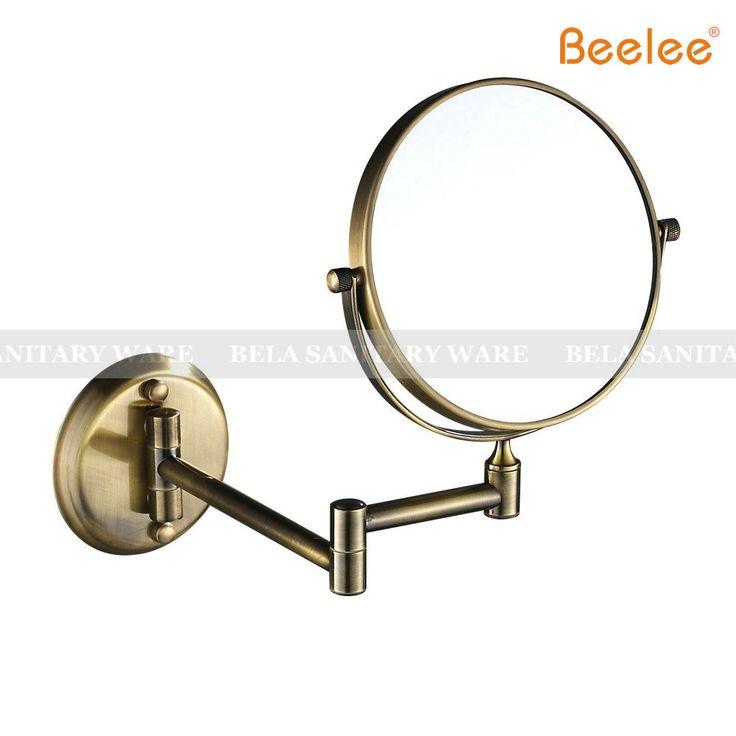 Beelee BL9103G Schoonheid Spiegel Wandmontage Professionele Make-up Spiegel 6/8 inch 3x5x7x10x Vergroting Make Spiegel Bronze