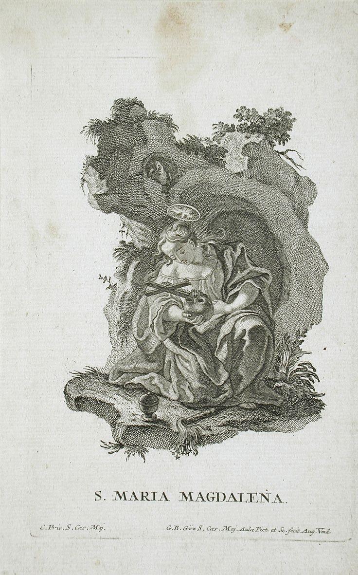 """Saint Mary Magdalene"" Gottfried Bernhard Göz (Germany, Welehrad, 1708-1774)…"