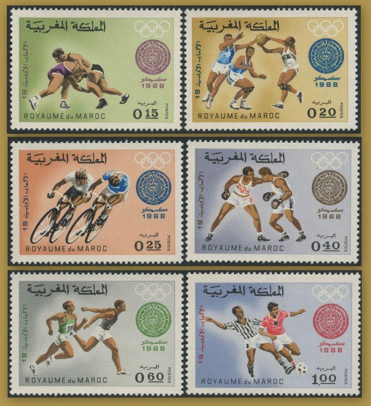 MAROC 1968 N° 572/577** Jeux Olympiques de Mexico, MOROCCO Olympics Set MNH