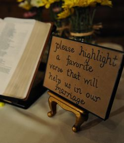 use a bible as a guest book <3