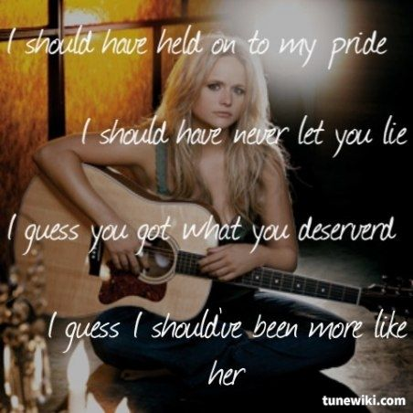 Miranda Lambert ~ More Like Her ... Still my favorite Miranda song.
