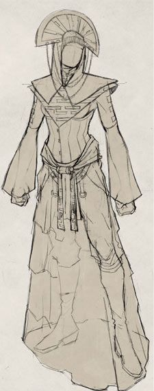 """Female outfit / clothing design (formal) by Barnaby Bagenda for Alyssa Crow's """"Monsters Within"""". #ConceptArt #Comics #female #design #character #outfit #costuming"""