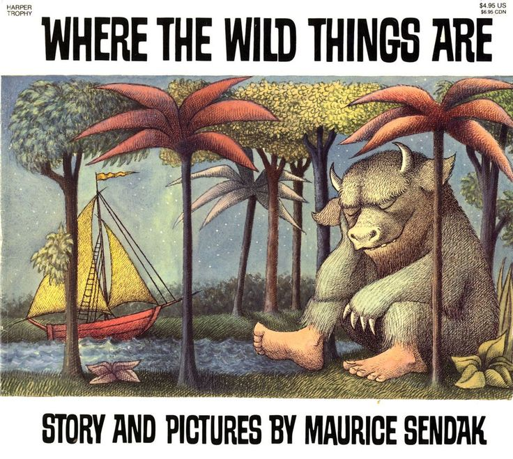 """Where the wild things are"" by Maurice Sendak. This classic picture book will inspire imagination."