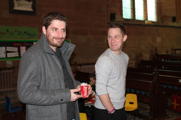 Matt Gaunt with Ryan Jackson at the Lily Mae Foundations Christmas Service.