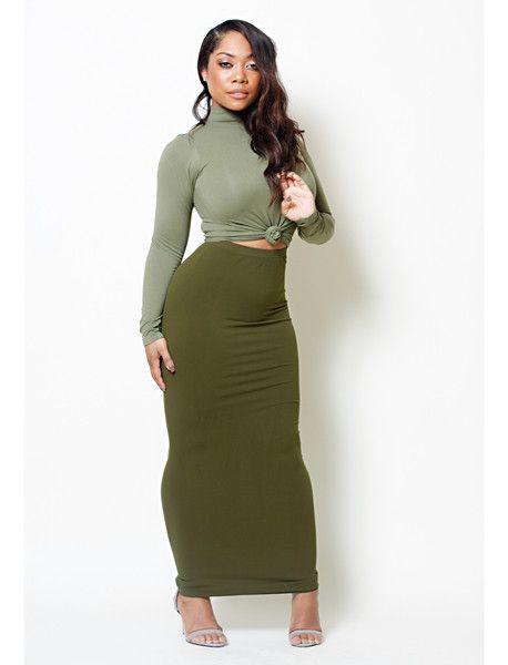 Maxi tube skirt dress