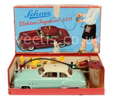 Schuco 5311 Elektro Ingenico Tinplate Car -Scarce Example Is