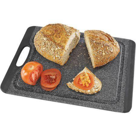 Kitchen Details Non-Slip Granite Cutting Board, Gray