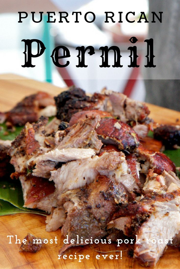 Authentic Puerto Rican Pernil #Recipe: Pork Roast with Adobo Rub via @jeanabeena