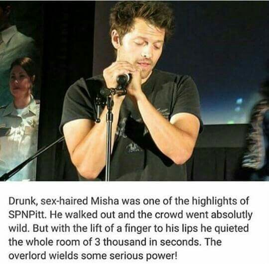 Misha has so much power over everyone  And yes, drunk, sex haired Misha is hot af