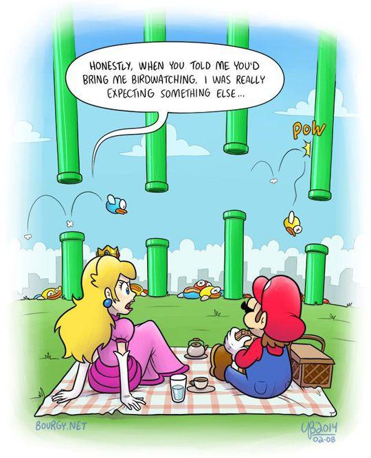 Wrong move Mario…