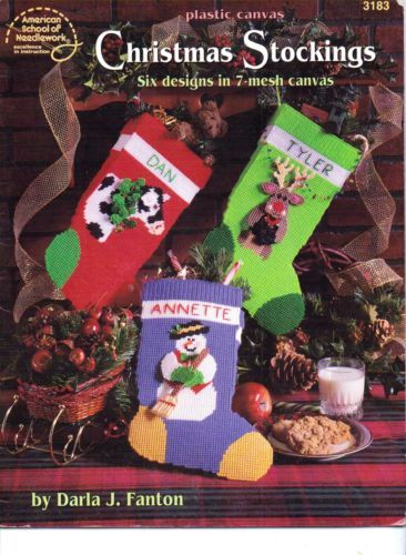 Christmas Stockings - Plastic Canvas Pattern Book