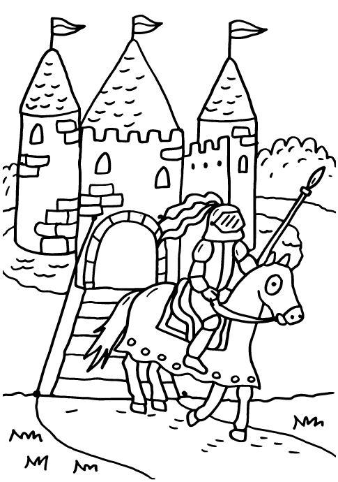 Pin auf Ritter Ausmalbilder