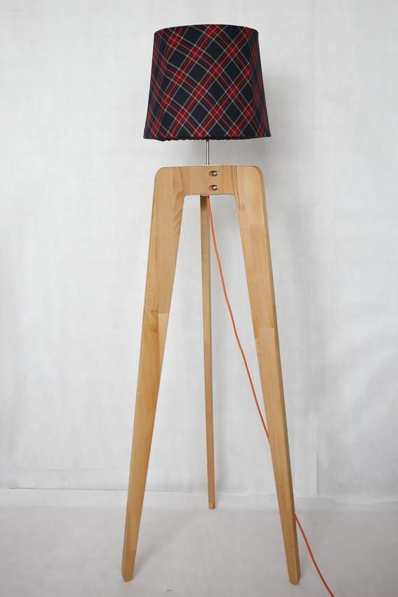 Cousy Checked Shade Lamp In 2020 Light Wooden Floor Tripod